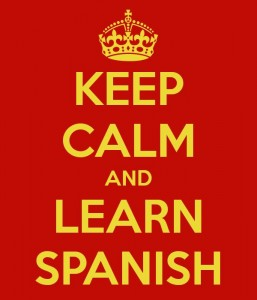 Learning Spanish Online Vs. Abroad - imagen by keepcalm-o-matic